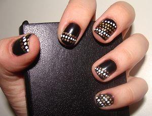 Маникюр на очень коротких ногтях