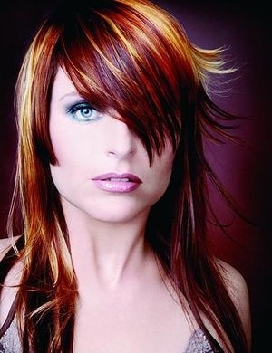 двухцветное окрашивание волос