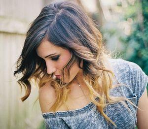 окрашивание концов волос