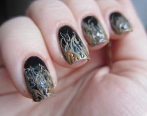 Как рисовать на ногтях иголкой