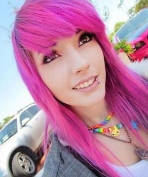 покраска волос в розовый цвет