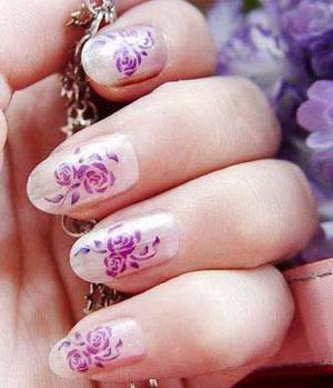 наращивание ногтей со слюдой